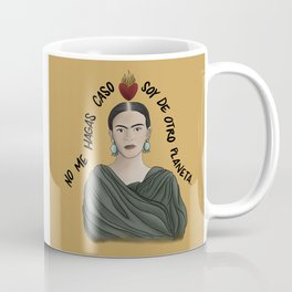 Frida from Another Planet - Yellow Coffee Mug