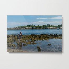 Rocky Beach in Maine Metal Print