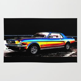 Muscle Car Mustang By Annie Zeno  Rug