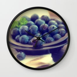 Blueberry plate Wall Clock