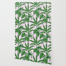 banana trees marker pattern Wallpaper