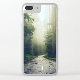 Redwood Forest Adventure - Nature Photography Clear iPhone Case