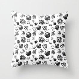 salad pattern Throw Pillow