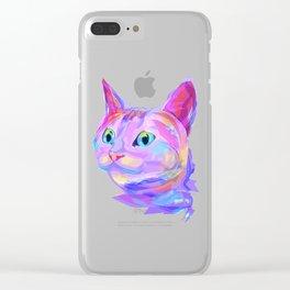 Cute cat (Animal set) Clear iPhone Case