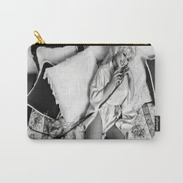 Dolly Parton Vintage Poster, Black and White Photograph, Music Legends, Housewarming Gifts for, Home Carry-All Pouch