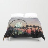 coachella Duvet Covers featuring Coachella by Lauren Haney