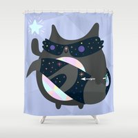 racoon Shower Curtains featuring Racoon Wizard by Crowded Teeth