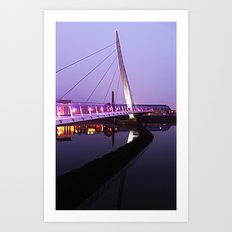 The Swansea Sail Bridge. Art Print