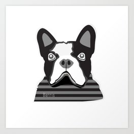borris the french bulldog Art Print