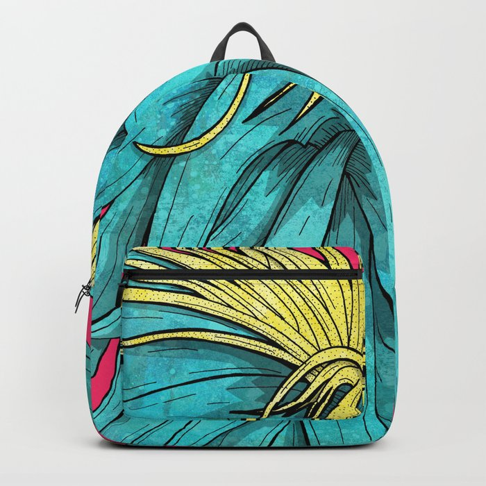 Tropical Plant Backpack