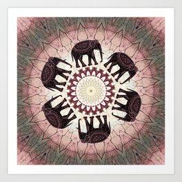 Boho Elephants Art Print