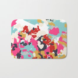 Inez - Modern Abstract painting in bold colors for trendy modern feminine gifts ideas  Bath Mat