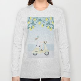 Scooter ride in the sun  past lemons and lemon trees Long Sleeve T-shirt