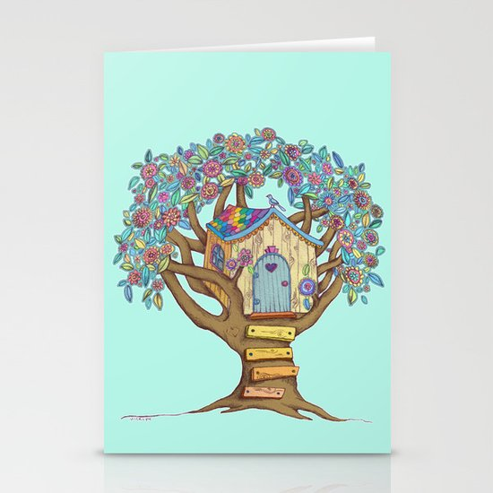 Live Simply, Love Trees Stationery Cards