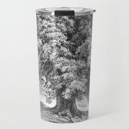 Linden Tree Print from 1800's Encyclopedia Travel Mug