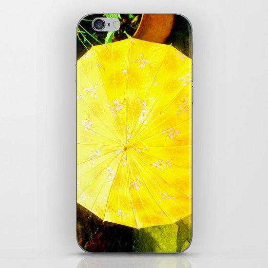 INTENSE YELLOW UMBRELLA iPhone & iPod Skin