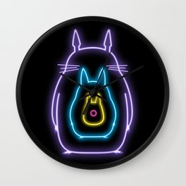 My Neon Neighbors  (Totoro) Wall Clock