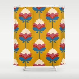 Retro fall florals- n. 4 Shower Curtain