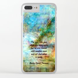 The Man Who Goes Alone Inspirational Travel Quote Clear iPhone Case