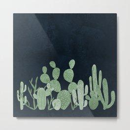 Green cactus garden Metal Print