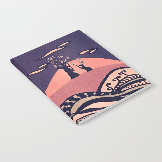 Psychedelic mountains (colour option) Notebook