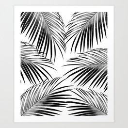 Black Palm Leaves Dream #2 #tropical #decor #art #society6 Art Print