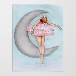 Ballerina in Pink Tutu Poster