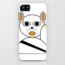 Maneki neko orange and black iPhone Case