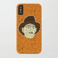 freddy krueger iPhone & iPod Cases featuring Freddy Krueger by Kuki