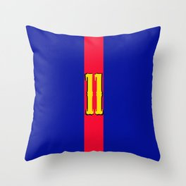 football team 1 number eleven Throw Pillow