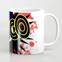 Disco 45 RPM Record Explosion Coffee Mug