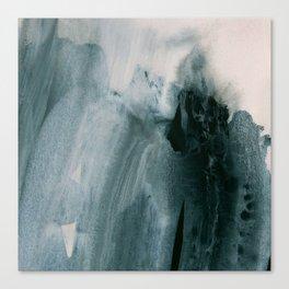 greyish brush strokes Canvas Print