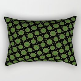 Detailed green mandala pattern Rectangular Pillow