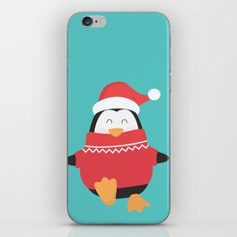 Little Penguin in Ugly Christmas Sweaters iPhone Skin