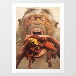 No More Fast Food Art Print