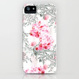 PINK ORCHIDS IN SPRING BLOOM iPhone Case