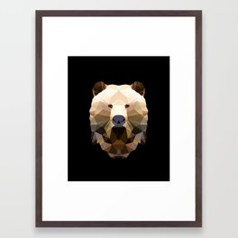 Polygon Heroes - The Bear Framed Art Print