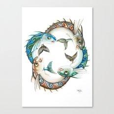 INKYFISH - Fish Circle #3 Canvas Print