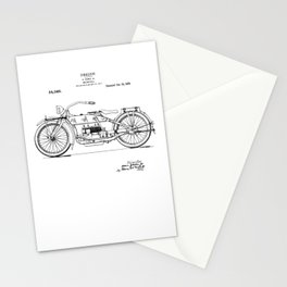 Vintage Patent Print 1919 Motorcycle Stationery Cards