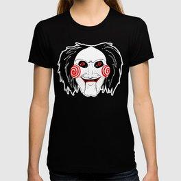 Jigsaw Puppet Illustration, Colour (Inktober Day 11:Cruel) T-shirt