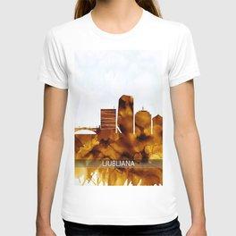 Ljubljana Slovenia Skyline T-shirt