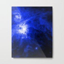 Orion Chaos Blue Metal Print