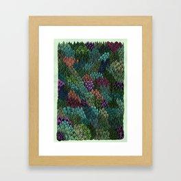 July Leaves Framed Art Print