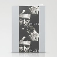 christopher walken Stationery Cards featuring Christopher Walken / Cat by Earl of Grey