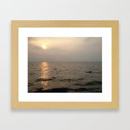 Indian Sunset Framed Art Print