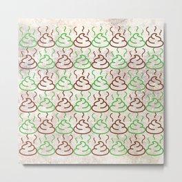 Poop Pattern Metal Print