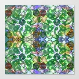 Vegan pattern Canvas Print
