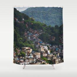 Favela - Rio - photo series Shower Curtain