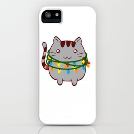 Xmas Cat Claws Christmas Cute Kittie Kitten Christmas Collection Meowy Christmas T-shirt Design iPhone Case