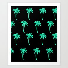 Palm Trees everywhere Art Print